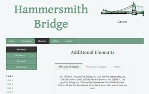 The Hammersmith Bridge Template