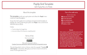 The PopUp Grid Template